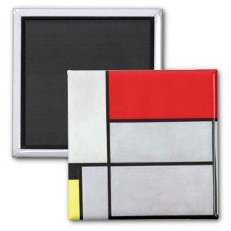 Mondrian - cuadro I Imán Cuadrado