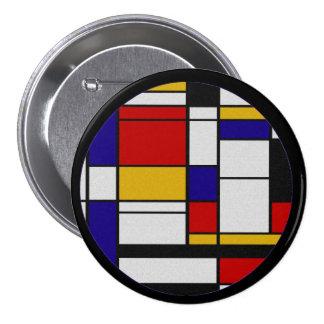 Mondrian De Stijl Button