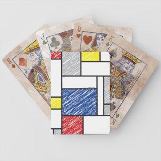 Mondrian De Stijl Scribbles Modern Art Play Cards