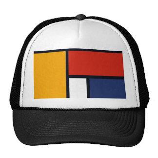 Mondrian Design Trucker Hat
