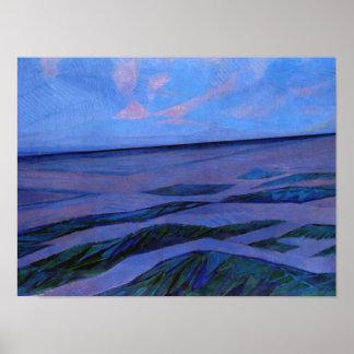 Mondrian - Dune Landscape Poster