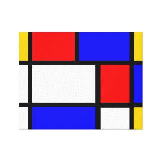 Mondrian estilo impresión en lienzo