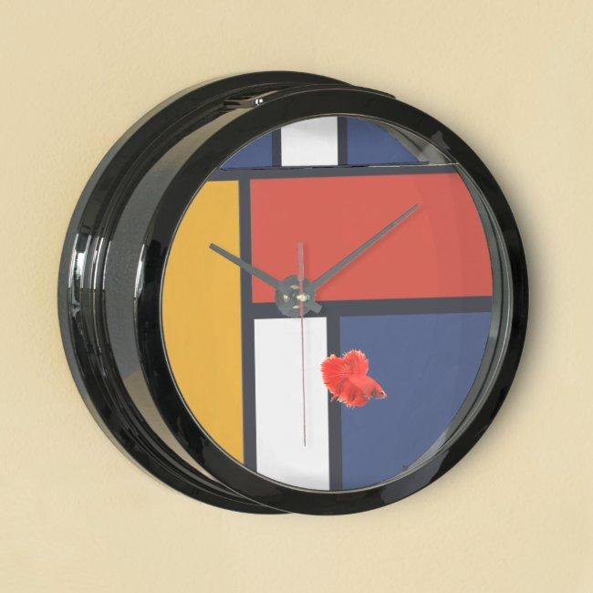 Mondrian Fish Tank Clock