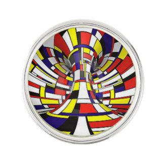 Mondrian Funhouse Lapel Pin