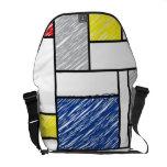 Mondrian garabatea el bolso del arte de Stijl del  Bolsa De Mensajería