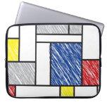 Mondrian garabatea el ordenador portátil del arte  funda ordendadores