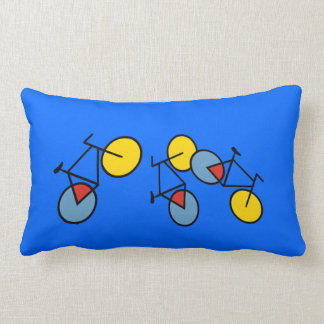 Mondrian Geometric Bicycle Art Cushion