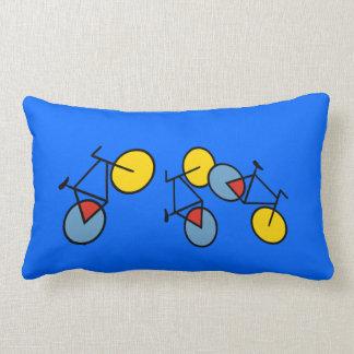 Mondrian Geometric Bicycle Art Cushion Pillows