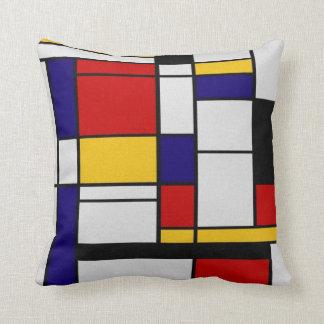 Mondrian Geometry Throw Pillow