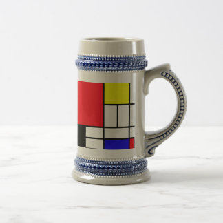 Mondrian Gray/Blue 22 oz Stein