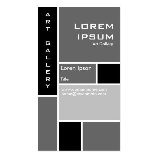 Mondrian - Gray Business Card Templates