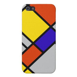 Mondrian Grey iPhone SE/5/5s Case