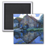 Mondrian - House on the Gein 2 Inch Square Magnet