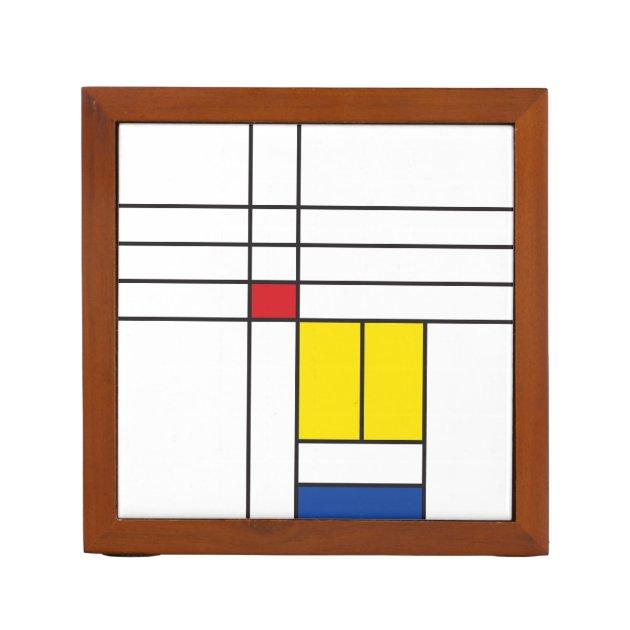 Image of: Mondrian Ii Minimalist De Stijl Modern Art Design Desk Organizer Zazzle Com