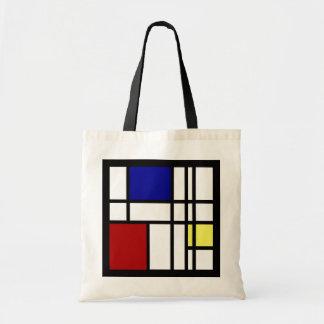 Mondrian impression art tote bag