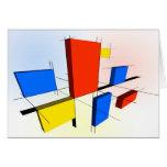 Mondrian Inspired 3D Greeting Card