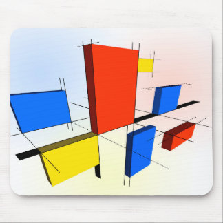 Mondrian Inspired 3D Mouse Pad