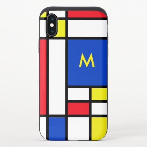 Mondrian Inspired Geometrical Design Abstract Art iPhone X Slider Case