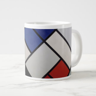 Mondrian inspired Mod Mug! 20 Oz Large Ceramic Coffee Mug