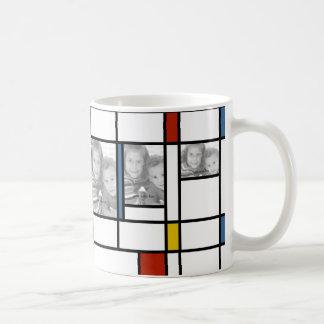 Mondrian Inspired Photo Template Mug