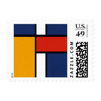 Mondrian Inspired Postage