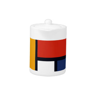 Mondrian Inspired Teapot