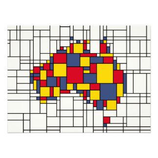 Mondrian inspiró el mapa de Australia Fotografía