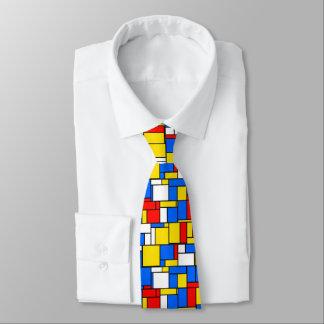 Mondrian inspiró el modelo amarillo azul rojo del corbata personalizada