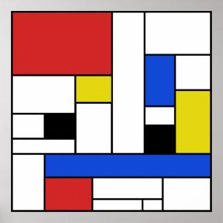 "Mondrian Lines 24"" x 24"" Poster (Matte)"
