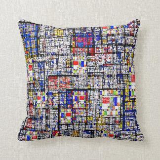 Mondrian Meets Grunge American MoJo Pillows