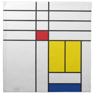 Mondrian Minimalist De Stijl Art Artist Napkin