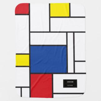 Mondrian Minimalist De Stijl Art Baby Blanket