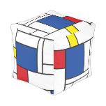 Mondrian Minimalist De Stijl Art Custom Pouf Cube Pouf