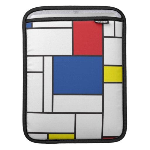 Mondrian Minimalist De Stijl Art iPad Sleeve