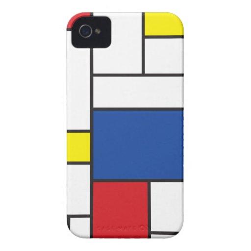 Mondrian Minimalist De Stijl Art iPhone 4 CaseMate iPhone 4 Case-Mate Cases