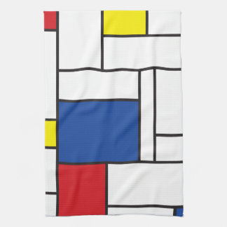 Mondrian Minimalist De Stijl Art Kitchen Towel