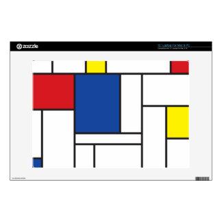 Mondrian Minimalist De Stijl Art Laptop Skin