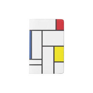Mondrian Minimalist De Stijl Art Notebook Cover