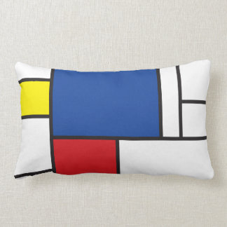 Mondrian Minimalist De Stijl Art Pillow Cushion