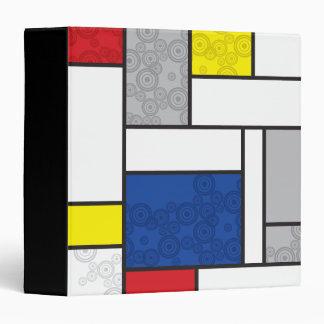 Mondrian Minimalist De Stijl Art Retro Circles Binder