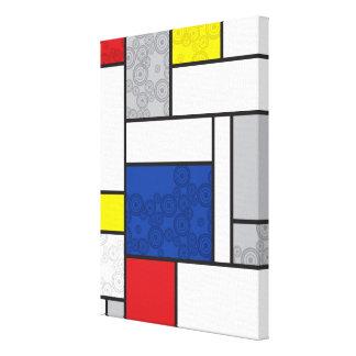Mondrian Minimalist De Stijl Art Retro Circles Canvas Print
