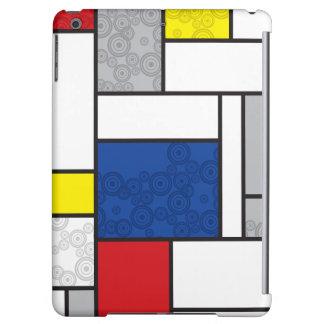 Mondrian Minimalist De Stijl Art Retro Circles Cover For iPad Air