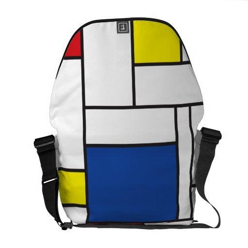 Mondrian Minimalist De Stijl Art Rickshaw Messenge Courier