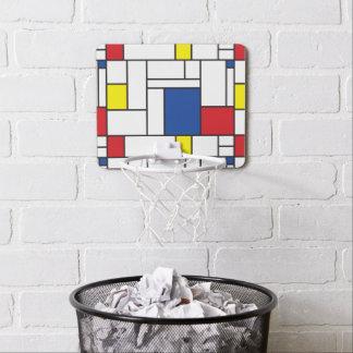 Mondrian Minimalist De Stijl Modern Art Ball Goal Mini Basketball Hoop