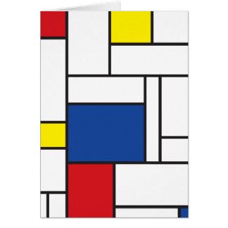 Mondrian Minimalist De Stijl Modern Art Card