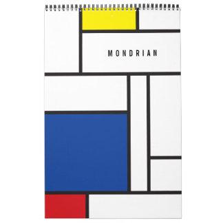 Mondrian Minimalist De Stijl Modern Art Custom Calendar