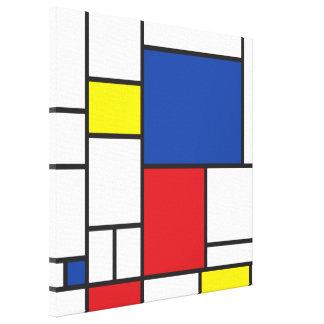 Mondrian Minimalist De Stijl Modern Art Custom Canvas Print