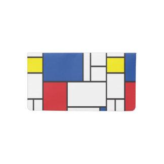 Mondrian Minimalist De Stijl Modern Art Custom Checkbook Cover