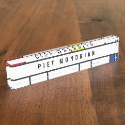 Mondrian Minimalist De Stijl Modern Art Custom Desk Name Plate