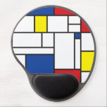 "Mondrian Minimalist De Stijl Modern Art Custom Gel Mouse Pad<br><div class=""desc"">Mondrian Minimalist De Stijl Modern Art in Red Blue and Yellow Color Block Design. This simple design features modern and graphic color blocks in bold black lines and bright colors. It is inspired by Piet Mondrian&#39;s abstract works and movement. Any text you see on the design can be personalized or...</div>"